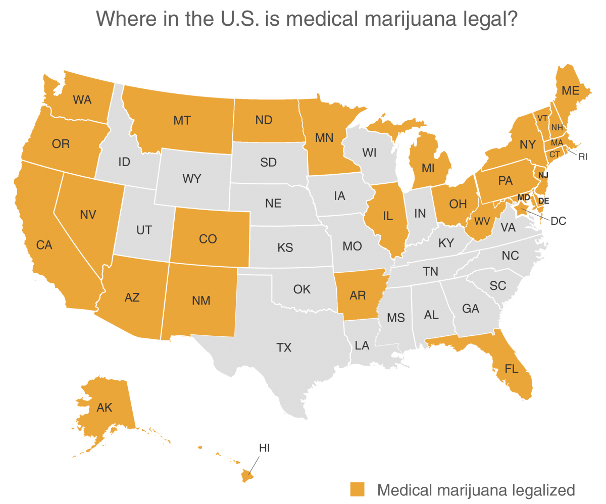 States with Medical Marijuana