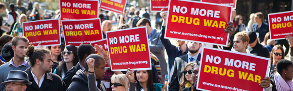 No More Drug War rally
